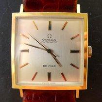 Omega De Ville Carree Gelbgold 18K 750 Vintage Chronometer