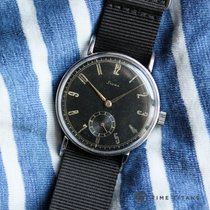 Stowa WW2 STAINLESS STEEL OVERSIZED 37MM GILT DIAL MANUAL WIND...