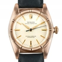 Rolex Oyster Perpetual Bubbleback 18kt Rosegold Automatik 32mm...