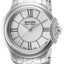 Bulova Accu Swiss Bellecombe Steel & Diamond Womens Watch...