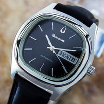 Bulova Stainless Steel Rare Mens Vintage Automatic 1970s Mens...
