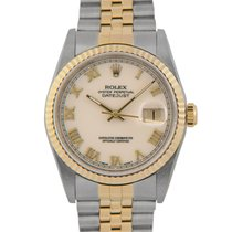Rolex Datejust Bimetal Cream Dial, 16233, With Papers