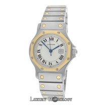 Cartier Midsize Ladies  Santos Octagon Steel 18K Gold 30MM Date