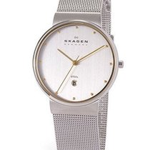 Skagen Mens Classic Mesh Watch - Two tone dial - Stainless...