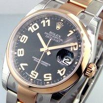 Rolex 116201 Steel Pink Gold 36 Mm Datejust Oyster Black...