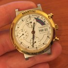 Tissot recing martini 40mm chrono chronograph oro gold automatic
