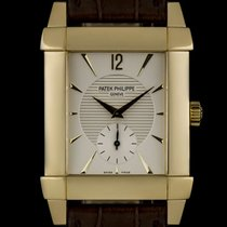 Patek Philippe 18k Yellow Gold Silver Dial Gondolo Gents...