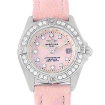 Breitling Callisto Pink Mother Of Pearl Diamond Ladies Watch...