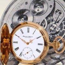IWC Schaffhausen 14K rose gold half hunter case pocket watch