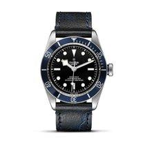Tudor HERITAGE BLACK BAY Blue Aged Leather Automatic Men 79230 B