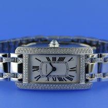 Cartier Tank Americaine White Gold Ladies size diamond set...