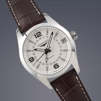 Longines Conquest GMT stainless steel automatic watch