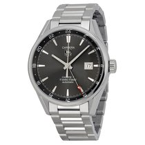 TAG Heuer Carrera Twin Time Anthracite Dial Mens Watch...
