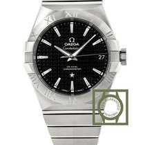 Omega Constellation Co-Axial 38mm Black Dial Full Steel NEW