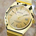 Benrus Luxury Automatic Gold Plated Watch For Men Circa 1960s Pb1