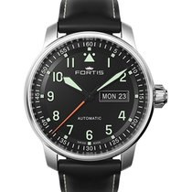Fortis Flieger Professional Swiss Auto Watch Day/date Black...