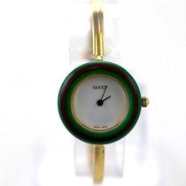 Gucci 12 Interchangeable Bezel Bangle Watch Gold Plated