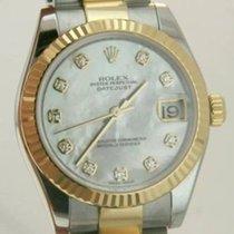 Rolex 31mm Midsize 18k Yellow Gold & Ss Factory Mop...