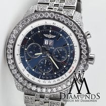 Breitling Bentley 6.75 Neptune Blue Stainless Dial/jubilee...