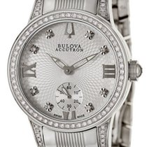 Bulova Masella Stainless Steel & Diamond Womens Watch 63R001