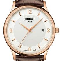 Tissot Dream White Dial Mens 18 Carat Rose Gold Watch T914.410...