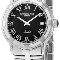 Raymond Weil Parsifal Stainless Steel Mens Watch Black Dial...