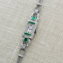 Tiffany and Co emerald and diamond watch
