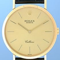 "Rolex ""Cellini"" Round Case Strapwatch."