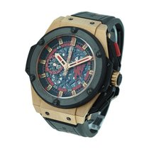 Hublot King Power Red Devil Manchester in Rose Gold with Black...