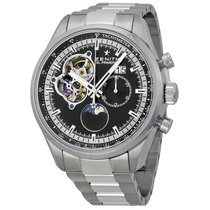 Zenith El Primero Grande Date Automatic Black Dial Stainless...