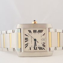Cartier Tank Francaise Steel Gold Big Size Automatic