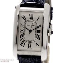Cartier Tank Americaine Automatic Ref-W2605556 18k White Gold...
