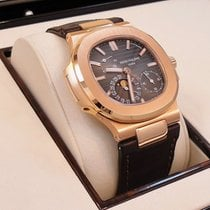 Patek Philippe 5712r-001 Nautilus Moon Phases 18k Rose Gold...