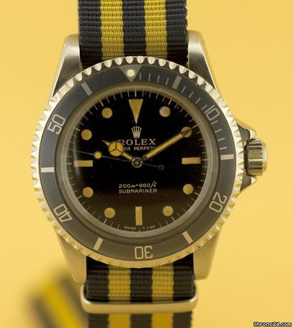 Rolex SUBMARINER REF 5513 GILT ACIER