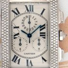 Cartier 2339 Tank Americaine Chronograph, White Gold