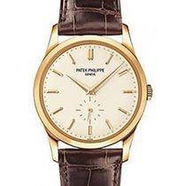 Patek Philippe 5196J-001 Calatrava 37mm White Opaline Index...