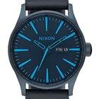 Nixon A105-2224 Sentry Leather All Dark Blue 42mm 10ATM