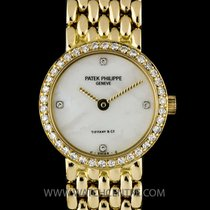 Patek Philippe 18K Y/G Double Name Tiffany Dia MOP Dial...