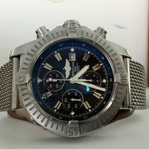 Breitling Super Avenger Chronograph Heritage Steel Black Dial...