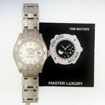 Rolex 80319 PearlMaster 29 WG 12 Diam Bezel Pink Diam Dial