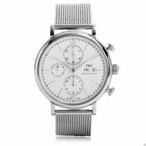 IWC Portofino Chronograph IW391009 Stainless Steel Silver Dial...