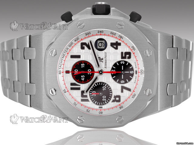 Audemars Piguet AP Royal Oak Offshore Chronograph Panda Dial - 44mm Stainless Steel &amp;amp; Stainless Steel Bracelet - Boxes/Papers 100% Complete &amp;amp; As-New