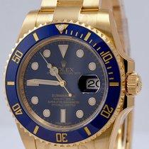 Rolex Submariner Yellow Gold Blue