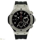 Hublot Big Bang 44mm Stainless Steel Rubber Chronograph Men's...