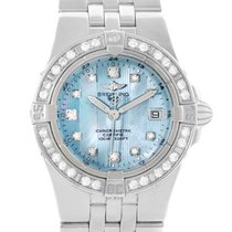 Breitling Starliner Ladies Blue Mother Of Pearl Diamond Watch...