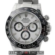 Rolex Daytona Ceramic Bezel Stainless Steel White Dial  Ref....