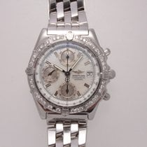 Breitling Stainless Steel Chronomat with Factory Diamonds