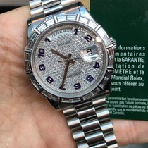 Rolex Daydate Platino Baguette Diamond Factory