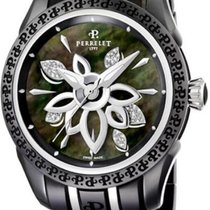 Perrelet Diamond Flower Black Ceramic