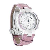 Concord La Scala Ladies MOP Pink Diamond Swiss Quartz Chronogr...